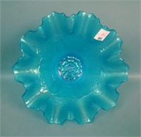 Dugan Celeste Blue Double Stem Rose Ftd Bowl