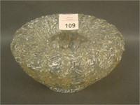 Dugan Crystal/White Frit Honey Comb Spittoon