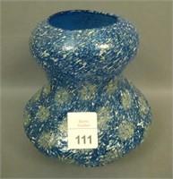Dugan Cobalt Starburst & Frit Vase