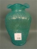 Dugan Aqua Stippled Frit Estate Vase