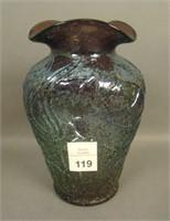Dugan Amethyst Stippled Frit Estate Vase