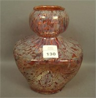 Dugan Red Square Frit Pinched Vase