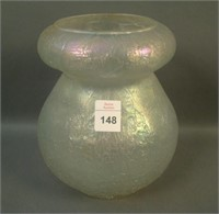 Dugan White Venetian Line Lg Rolled Top Vase