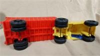Plastic Fire Truck & Auburn Truck Set