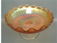 Fenton Marigold Stippled Rays Compote