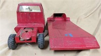 Tonka Truck & Flatbed Trailer Set