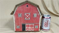 Wooden barn with cardboard and wood accessories