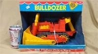 """Fisher Price #311 plastic bulldozer in box """"1975"""""""