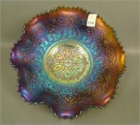 N'Wood Purple Hearts & Flowers Ruffled Bowl