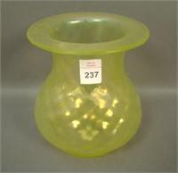N'Wood Vaseline Concave Diamond Bulbous Vase