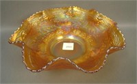 Fenton Marigold Little Fishes Ftd. Ruffled Bowl