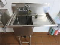"""Allstrong 35"""" S/S Sink w/ Right-Hand Drain Table"""