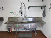 "Atlanta Culinary 91"" 3- S/S Compartment Sink w/"