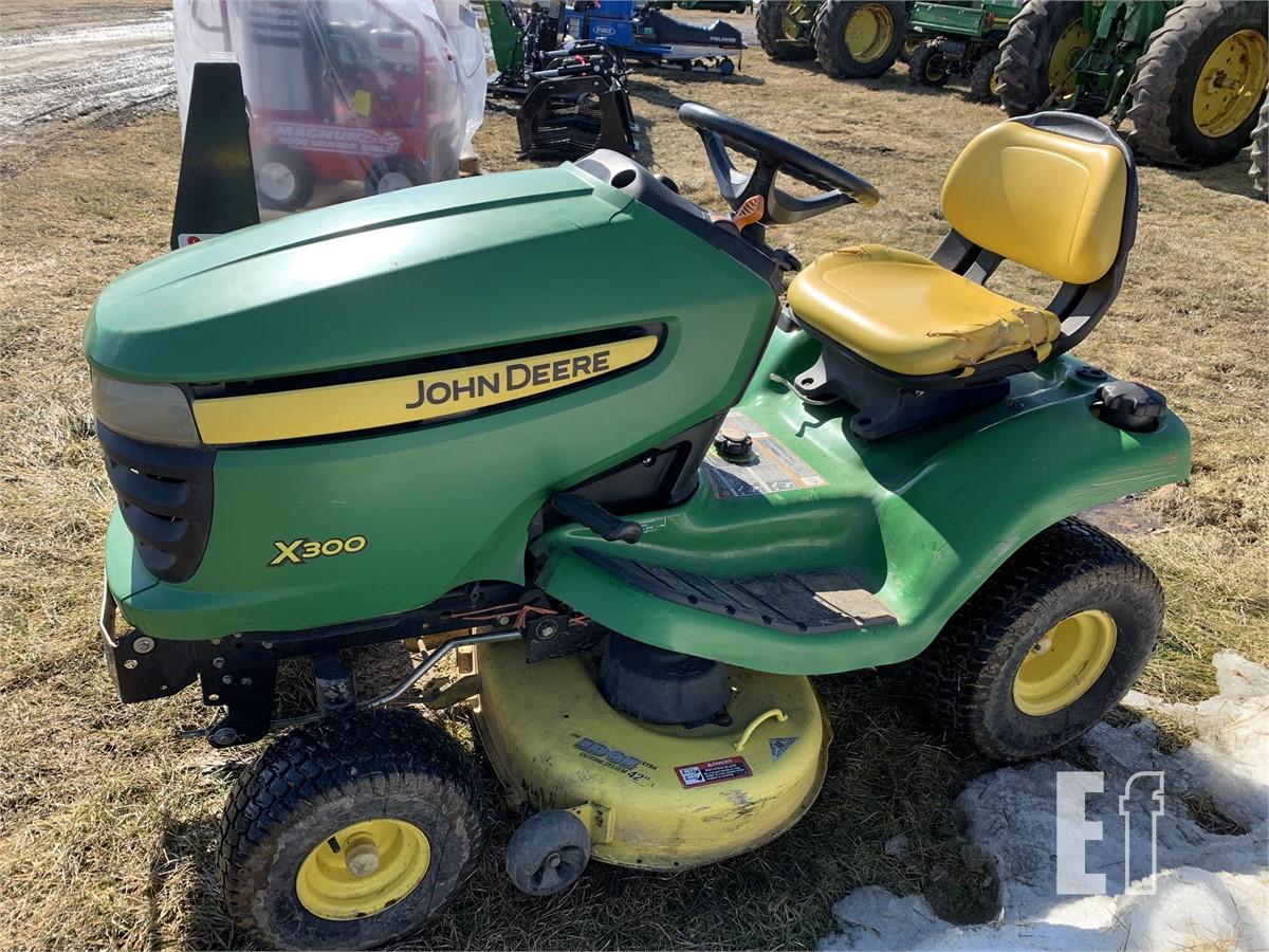 equipmentfacts  john deere x300 online auctions