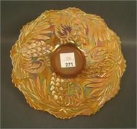 Fenton Marigold Pine Cone Plate