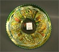 Fenton Green Pine Cone Plate