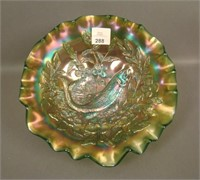 M'Burg Green Trout & Fly Bowl W/ 3/1 Edge