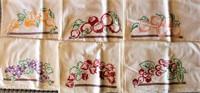 Vintage Embroidered T-Towels