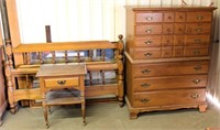 Old/Heavy Dresser, Mirror, Head & Foot Boards, Rails, Night Stand, Chest of Drawers (view 1)