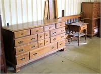 Old/Heavy Dresser, Mirror, Head & Foot Boards, Rails, Night Stand, Chest of Drawers (view 2)