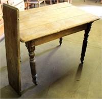 Vintage Oak Kitchen Table w/1-Leaf