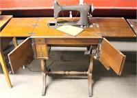 "Cromwell ""mdl B"" Sewing Machine w/Cabinet (view 1)"