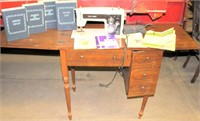 Sears Kenmore Sewing Machine w/Cabinet and Attachments/Cams (view 1)