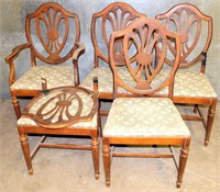 4- Vintage Dining Chairs (need restoration)