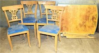 Vintage Table, 4-Chairs (need restoration)