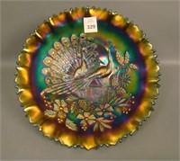 N'Wood Purple Peacocks Bowl W/ PCE