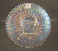 """N""""wood White Peacocks Plate"""
