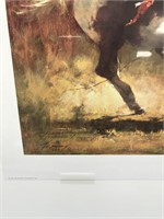 Howard Terpning signed and numbered print, shrink