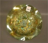 M'Burg Green Blackberry Wreath Ruffled bowl