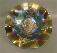 Dugan Purple Bell Flower Ruffled Bowl
