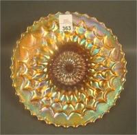 "Dugan Marigold Fishscale & Beads 7"" Plate"