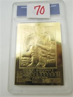 23K Kobe Bryant Card - WCG