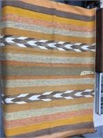 """Very nice Navajo horse blanket 61.5"""" long"""