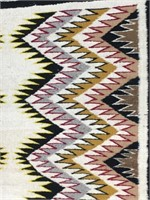 "Hand woven woolen Indian rug about 37"" long"