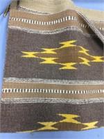 """Hand woven woolen Indian rug  59"""" long"""