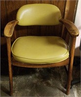 (55) Wood Side Chair  ($5 Reserve)