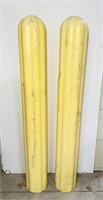 (2) Hard Plastic Concrete Post Covers