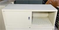 Steelcase Metal Cabinet w/sliding doors