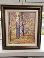 "1923 William Forsyth ""Birch Trees"" painting/art"