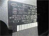2007 Hyundai Elantra - for parts - NO TITLE - AS I