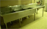 Commercial 3 Basin Stainless Steel Sink