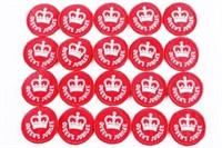 Lot (20) Queen Elizabeth II Silver Jubilee O.P.P.