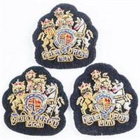 Lot (3) Queens Crown British Nato Issue Warrant Of