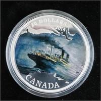 RCM .9999 Fine Silver $20.00 Coin Lost Ships in Ca