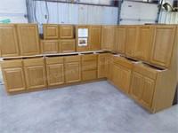 14 pc regal oak kitchen set