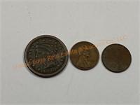 Braided Hair Large Cent